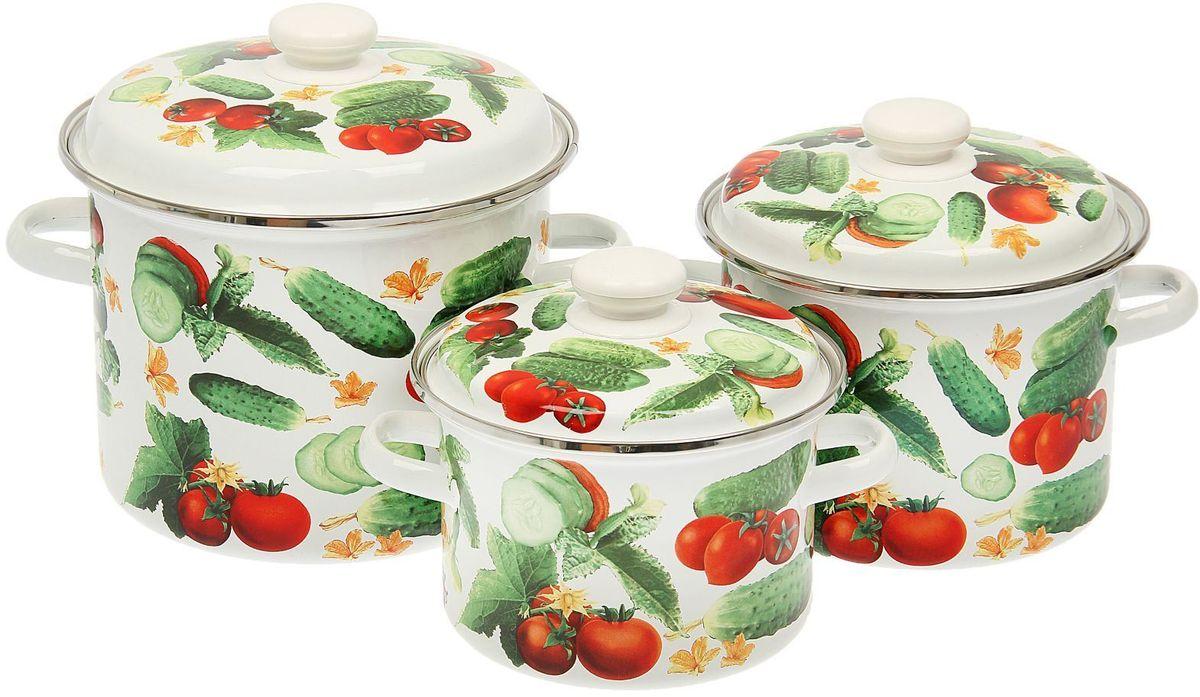 Набор кастрюль Epos, с крышками, 6 предметов1444534Эмалированная посудая пригодится вам для быстрого приготовления разныхтипов блюд. Такая посуда подходит для домашнего и профессиональногоиспользования.Достоинства: посуда быстро и равномерно нагревается; корпус стоек к ржавчине; изделие легко отмывается в посудомоечной машине. Благодаря приятным цветам кастрюля удачно впишется в любой дизайнинтерьера. Наилучшее качество покрытия достигается за счет того, что посудапроходит обжиг при температуре до 800 градусов. Чтобы предмет сохранял наилучшие эксплуатационные свойства, соблюдайтеправила ухода: избегайте ударов и падений; не пользуйтесь высокоабразивными чистящими средствами; не допускайте резких перепадов температуры. Посуда подходит для долговременного хранения пищи.