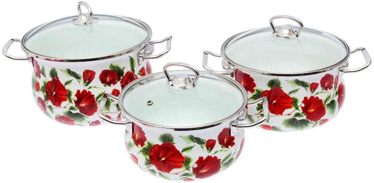 Набор кастрюль Epos Каркаде, с крышками, 6 предметов. 14445441444544Эмалированная посудая пригодится вам для быстрого приготовления разных типов блюд. Такая посуда подходит для домашнего и профессионального использования.Достоинства:посуда быстро и равномерно нагревается;корпус стоек к ржавчине;изделие легко отмывается в посудомоечной машине.Благодаря приятным цветам кастрюля удачно впишется в любой дизайн интерьера. Наилучшее качество покрытия достигается за счёт того, что посуда проходит обжиг при температуре до 800 градусов.Чтобы предмет сохранял наилучшие эксплуатационные свойства, соблюдайте правила ухода:избегайте ударов и падений;не пользуйтесь высокоабразивными чистящими средствами;не допускайте резких перепадов температуры.Посуда подходит для долговременного хранения пищи.