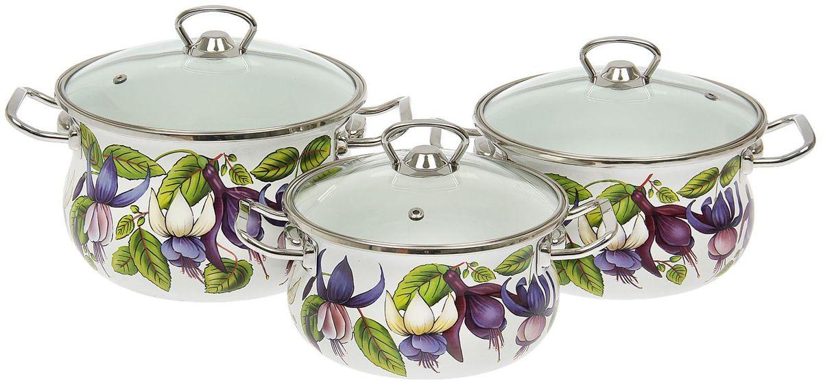 Набор кастрюль Epos Фуксия, с крышками, 6 предметов1444546Эмалированная посудая пригодится вам для быстрого приготовления разных типов блюд. Такая посуда подходит для домашнего и профессионального использования.Достоинства:посуда быстро и равномерно нагревается;корпус стоек к ржавчине;изделие легко отмывается в посудомоечной машине.Благодаря приятным цветам кастрюля удачно впишется в любой дизайн интерьера. Наилучшее качество покрытия достигается за счёт того, что посуда проходит обжиг при температуре до 800 градусов.Чтобы предмет сохранял наилучшие эксплуатационные свойства, соблюдайте правила ухода:избегайте ударов и падений;не пользуйтесь высокоабразивными чистящими средствами;не допускайте резких перепадов температуры.Посуда подходит для долговременного хранения пищи.