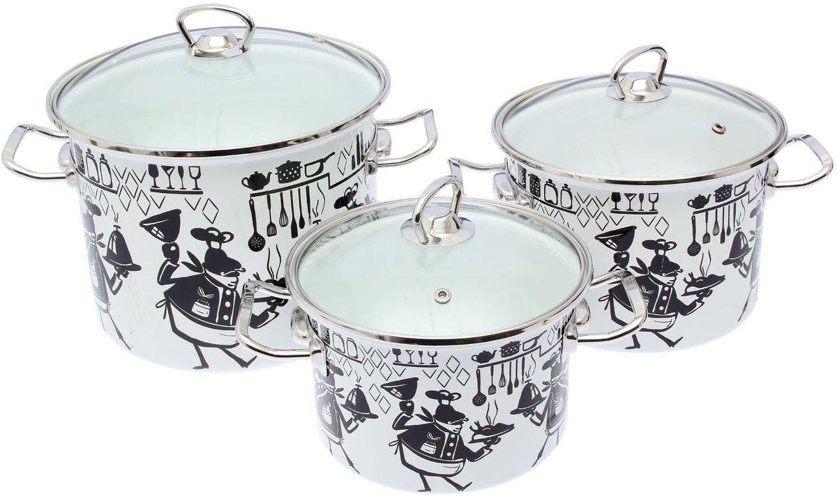 Набор кастрюль Epos Cook, с крышками, 6 предметов1444547Эмалированная посудая пригодится вам для быстрого приготовления разных типов блюд. Такая посуда подходит для домашнего и профессионального использования.Достоинства:посуда быстро и равномерно нагревается;корпус стоек к ржавчине;изделие легко отмывается в посудомоечной машине.Благодаря приятным цветам кастрюля удачно впишется в любой дизайн интерьера. Наилучшее качество покрытия достигается за счёт того, что посуда проходит обжиг при температуре до 800 градусов.Чтобы предмет сохранял наилучшие эксплуатационные свойства, соблюдайте правила ухода:избегайте ударов и падений;не пользуйтесь высокоабразивными чистящими средствами;не допускайте резких перепадов температуры.Посуда подходит для долговременного хранения пищи.
