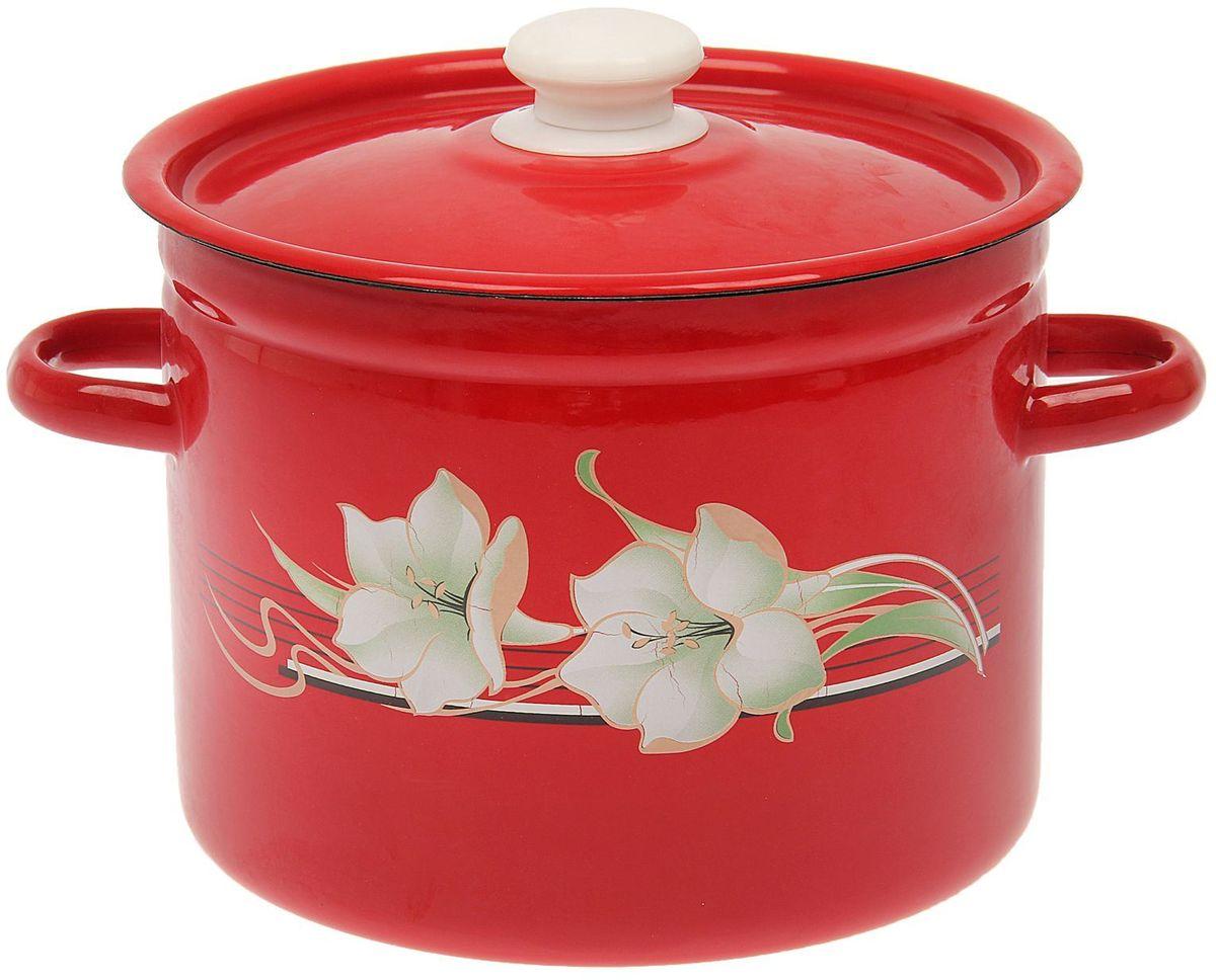 Кастрюля Epos Темно-красная лилия, 5,5 л1444555Эмалированная кастрюля пригодится вам для быстрого приготовления разных типов блюд. Такая посуда подходит для домашнего и профессионального использования.Кастрюля цилиндрическая — помощь на кухне на долгие годы.Достоинства:посуда быстро и равномерно нагревается;корпус стоек к ржавчине;изделие легко отмывается в посудомоечной машине.Благодаря приятным цветам кастрюля удачно впишется в любой дизайн интерьера. Наилучшее качество покрытия достигается за счёт того, что посуда проходит обжиг при температуре до 800 градусов.Чтобы предмет сохранял наилучшие эксплуатационные свойства, соблюдайте правила ухода:избегайте ударов и падений;не пользуйтесь высокоабразивными чистящими средствами;не допускайте резких перепадов температуры.Посуда подходит для долговременного хранения пищи.