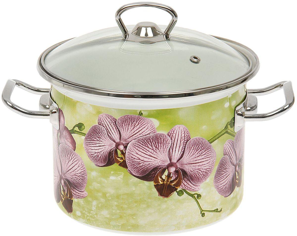 Кастрюля Epos Орхидея, с крышкой, 3 л1444557Эмалированная кастрюля пригодится вам для быстрого приготовления разных типов блюд. Такая посуда подходит для домашнего и профессионального использования.Кастрюля цилиндрическая — помощь на кухне на долгие годы.Достоинства:посуда быстро и равномерно нагревается;корпус стоек к ржавчине;изделие легко отмывается в посудомоечной машине.Благодаря приятным цветам кастрюля удачно впишется в любой дизайн интерьера. Наилучшее качество покрытия достигается за счёт того, что посуда проходит обжиг при температуре до 800 градусов.Чтобы предмет сохранял наилучшие эксплуатационные свойства, соблюдайте правила ухода:избегайте ударов и падений;не пользуйтесь высокоабразивными чистящими средствами;не допускайте резких перепадов температуры.Посуда подходит для долговременного хранения пищи.