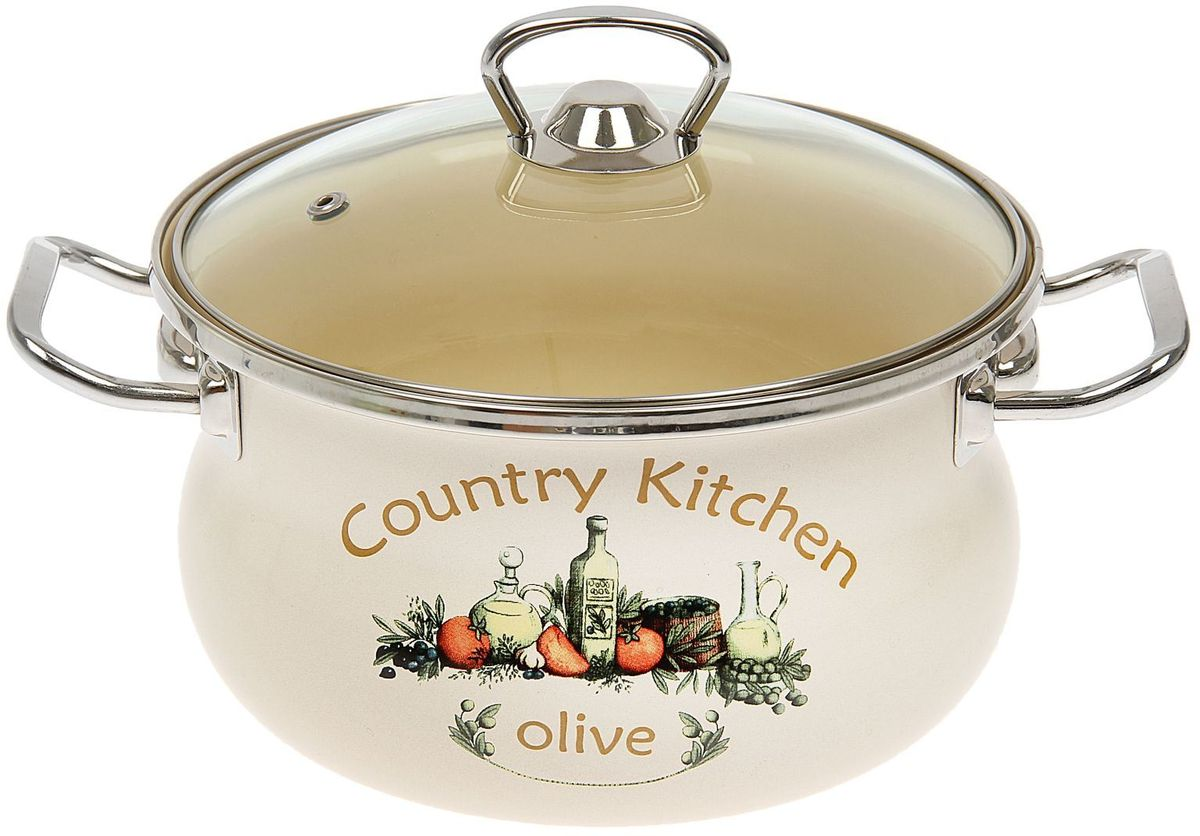 Кастрюля Epos Olive, с крышкой, 2,5 л1444560Эмалированная кастрюля пригодится вам для быстрого приготовления разных типов блюд. Такая посуда подходит для домашнего и профессионального использования.Кастрюля цилиндрическая — помощь на кухне на долгие годы.Достоинства:посуда быстро и равномерно нагревается;корпус стоек к ржавчине;изделие легко отмывается в посудомоечной машине.Благодаря приятным цветам кастрюля удачно впишется в любой дизайн интерьера. Наилучшее качество покрытия достигается за счёт того, что посуда проходит обжиг при температуре до 800 градусов.Чтобы предмет сохранял наилучшие эксплуатационные свойства, соблюдайте правила ухода:избегайте ударов и падений;не пользуйтесь высокоабразивными чистящими средствами;не допускайте резких перепадов температуры.Посуда подходит для долговременного хранения пищи.