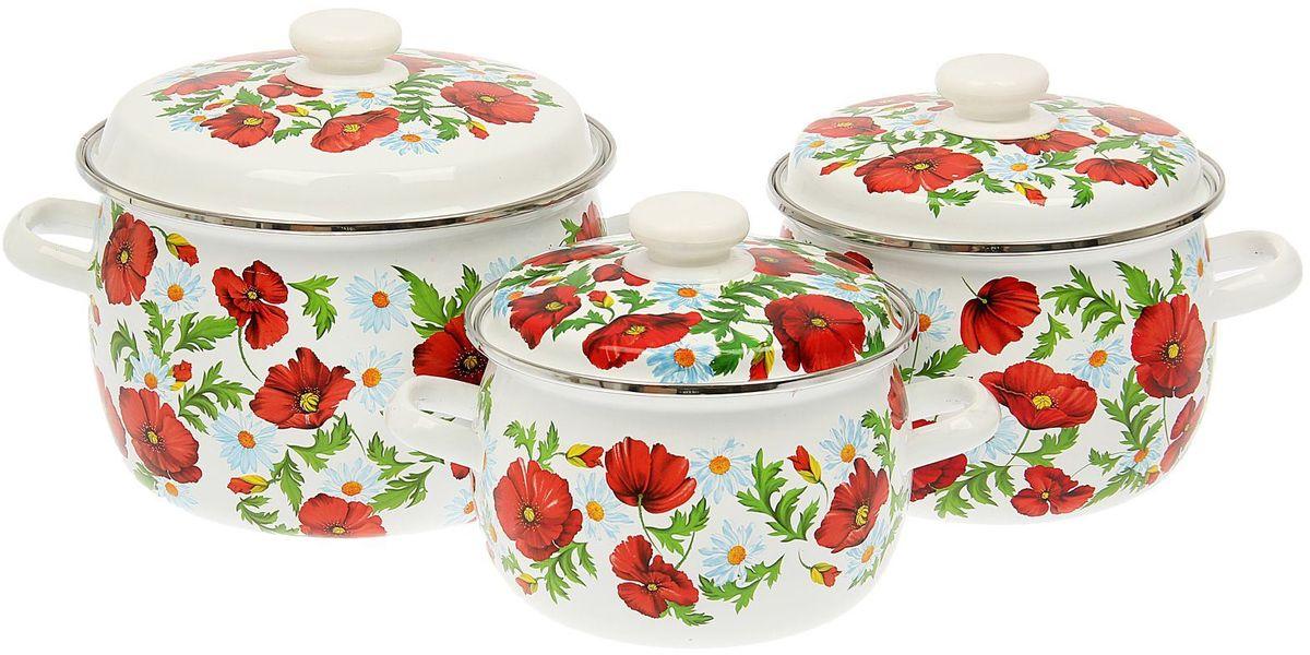 Набор кастрюль Epos Маковое поле, с крышками, 6 предметов1444566Эмалированная посудая пригодится вам для быстрого приготовления разных типов блюд. Такая посуда подходит для домашнего и профессионального использования.Достоинства:посуда быстро и равномерно нагревается;корпус стоек к ржавчине;изделие легко отмывается в посудомоечной машине.Благодаря приятным цветам кастрюля удачно впишется в любой дизайн интерьера. Наилучшее качество покрытия достигается за счёт того, что посуда проходит обжиг при температуре до 800 градусов.Чтобы предмет сохранял наилучшие эксплуатационные свойства, соблюдайте правила ухода:избегайте ударов и падений;не пользуйтесь высокоабразивными чистящими средствами;не допускайте резких перепадов температуры.Посуда подходит для долговременного хранения пищи.