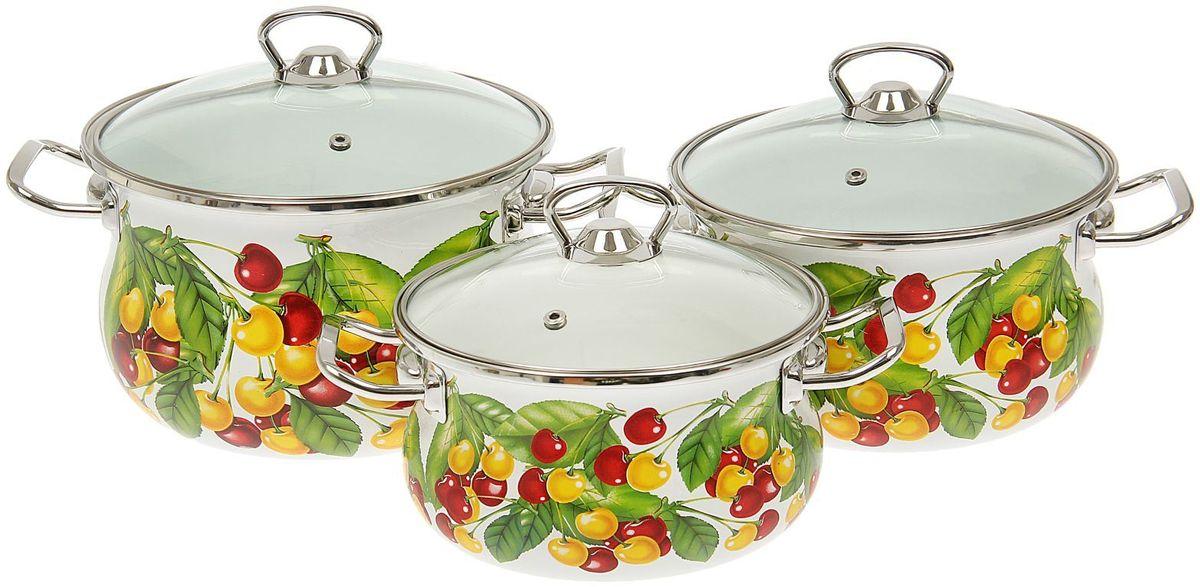 Набор кастрюль Epos Вкусняшка, с крышками, 6 предметов. 14445681444568Эмалированная посудая пригодится вам для быстрого приготовления разных типов блюд. Такая посуда подходит для домашнего и профессионального использования.Достоинства:посуда быстро и равномерно нагревается;корпус стоек к ржавчине;изделие легко отмывается в посудомоечной машине.Благодаря приятным цветам кастрюля удачно впишется в любой дизайн интерьера. Наилучшее качество покрытия достигается за счёт того, что посуда проходит обжиг при температуре до 800 градусов.Чтобы предмет сохранял наилучшие эксплуатационные свойства, соблюдайте правила ухода:избегайте ударов и падений;не пользуйтесь высокоабразивными чистящими средствами;не допускайте резких перепадов температуры.Посуда подходит для долговременного хранения пищи.