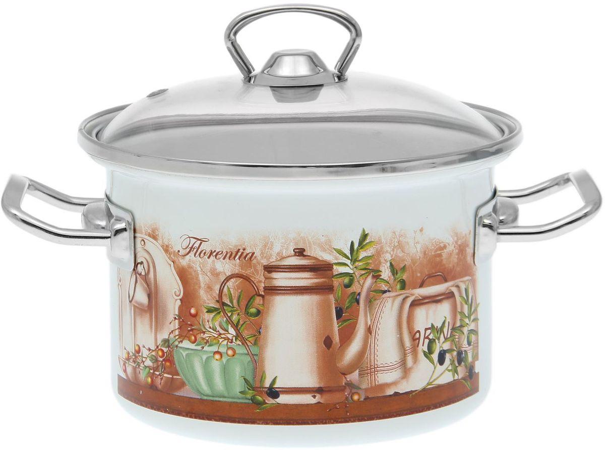 Кастрюля Epos Флоренция, 2 л1721276Эмалированная кастрюля пригодится вам для быстрого приготовления разных типов блюд. Такая посуда подходит для домашнего и профессионального использования.Кастрюля цилиндрическая — помощь на кухне на долгие годы.Достоинства:посуда быстро и равномерно нагревается;корпус стоек к ржавчине;изделие легко отмывается в посудомоечной машине.Благодаря приятным цветам кастрюля удачно впишется в любой дизайн интерьера. Наилучшее качество покрытия достигается за счёт того, что посуда проходит обжиг при температуре до 800 градусов.Чтобы предмет сохранял наилучшие эксплуатационные свойства, соблюдайте правила ухода:избегайте ударов и падений;не пользуйтесь высокоабразивными чистящими средствами;не допускайте резких перепадов температуры.Посуда подходит для долговременного хранения пищи.