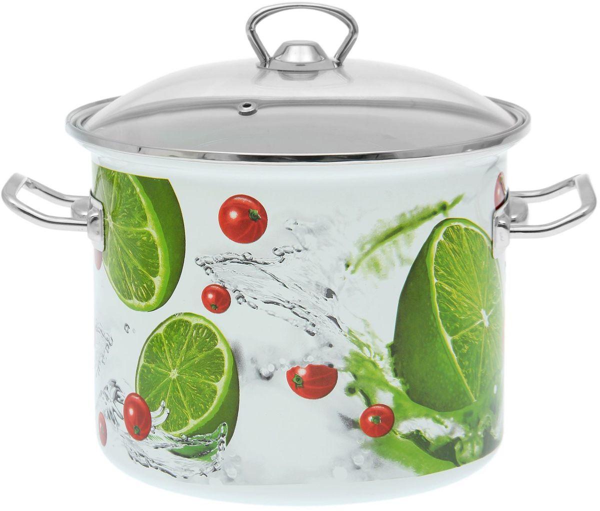 Кастрюля Epos Лайм, 5,5 л1721284Эмалированная кастрюля пригодится вам для быстрого приготовления разных типов блюд. Такая посуда подходит для домашнего и профессионального использования.Кастрюля цилиндрическая — помощь на кухне на долгие годы.Достоинства:посуда быстро и равномерно нагревается;корпус стоек к ржавчине;изделие легко отмывается в посудомоечной машине.Благодаря приятным цветам кастрюля удачно впишется в любой дизайн интерьера. Наилучшее качество покрытия достигается за счёт того, что посуда проходит обжиг при температуре до 800 градусов.Чтобы предмет сохранял наилучшие эксплуатационные свойства, соблюдайте правила ухода:избегайте ударов и падений;не пользуйтесь высокоабразивными чистящими средствами;не допускайте резких перепадов температуры.Посуда подходит для долговременного хранения пищи.