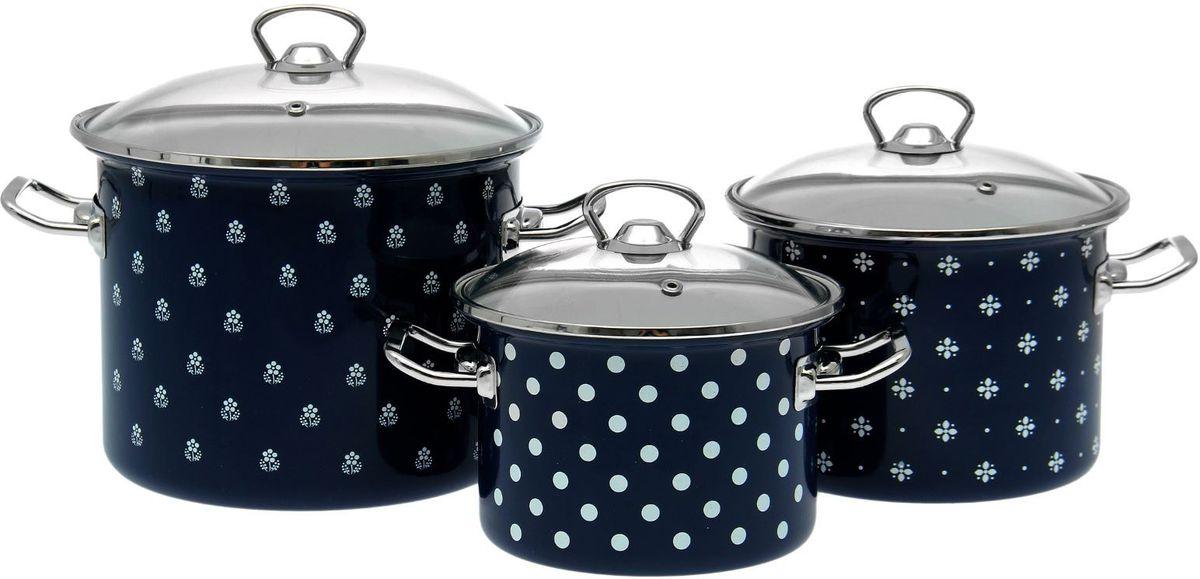 Набор кастрюль Epos Саксония с крышками, 6 предметов посуда для приготовления пищи