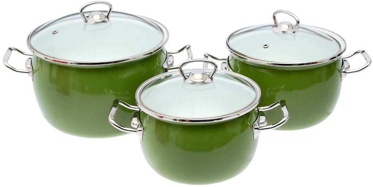 Набор кастрюль Epos Вильямс, с крышками, 6 предметов1721303Эмалированная посудая пригодится вам для быстрого приготовления разных типов блюд. Такая посуда подходит для домашнего и профессионального использования.Достоинства:посуда быстро и равномерно нагревается;корпус стоек к ржавчине;изделие легко отмывается в посудомоечной машине.Благодаря приятным цветам кастрюля удачно впишется в любой дизайн интерьера. Наилучшее качество покрытия достигается за счёт того, что посуда проходит обжиг при температуре до 800 градусов.Чтобы предмет сохранял наилучшие эксплуатационные свойства, соблюдайте правила ухода:избегайте ударов и падений;не пользуйтесь высокоабразивными чистящими средствами;не допускайте резких перепадов температуры.Посуда подходит для долговременного хранения пищи.