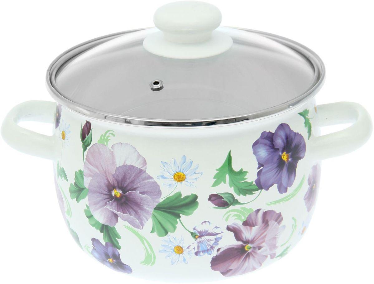 Кастрюля Epos Фиалка ситец, с крышкой, 3,5 л1770640Эмалированная кастрюля пригодится вам для быстрого приготовления разных типов блюд. Такая посуда подходит для домашнего и профессионального использования.Достоинства:посуда быстро и равномерно нагревается;корпус стоек к ржавчине;изделие легко отмывается в посудомоечной машине.Благодаря приятным цветам кастрюля удачно впишется в любой дизайн интерьера. Наилучшее качество покрытия достигается за счёт того, что посуда проходит обжиг при температуре до 800 градусов.Чтобы предмет сохранял наилучшие эксплуатационные свойства, соблюдайте правила ухода:избегайте ударов и падений;не пользуйтесь высокоабразивными чистящими средствами;не допускайте резких перепадов температуры.Посуда подходит для долговременного хранения пищи.