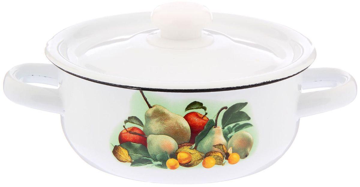 Кастрюля эмалированная Epos Грушка с крышкой, 1 л2293327Кастрюля Epos Грушка выполнена из нержавеющей стали с эмалированным покрытием. Внешние стенки оформлены изображением груш и других фруктов.Эмалированная кастрюля Epos Грушка пригодится вам для быстрого приготовления разных типов блюд. Такая посуда подходит для домашнего и профессионального использования.Достоинства:посуда быстро и равномерно нагревается;корпус стоек к ржавчине;изделие легко отмывается в посудомоечной машине.Благодаря приятным цветам кастрюля удачно впишется в любой дизайн интерьера. Наилучшее качество покрытия достигается за счёт того, что посуда проходит обжиг при температуре до 800 градусов.Чтобы предмет сохранял наилучшие эксплуатационные свойства, соблюдайте правила ухода:избегайте ударов и падений;не пользуйтесь высокоабразивными чистящими средствами;не допускайте резких перепадов температуры.Посуда подходит для долговременного хранения пищи.Диаметр: 18 см.
