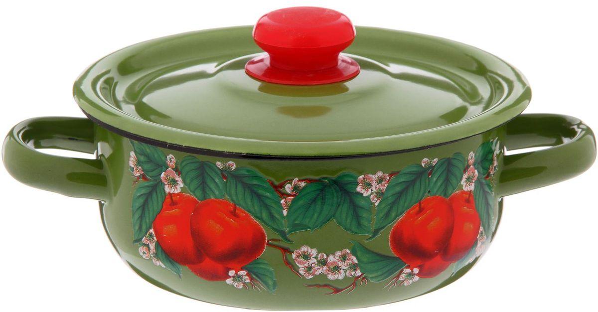 Кастрюля Epos Яблоко зеленое, 1 л2293329Эмалированная кастрюля пригодится вам для быстрого приготовления разных типов блюд. Такая посуда подходит для домашнего и профессионального использования.Кастрюля цилиндрическая — помощь на кухне на долгие годы.Достоинства:посуда быстро и равномерно нагревается;корпус стоек к ржавчине;изделие легко отмывается в посудомоечной машине.Благодаря приятным цветам кастрюля удачно впишется в любой дизайн интерьера. Наилучшее качество покрытия достигается за счёт того, что посуда проходит обжиг при температуре до 800 градусов.Чтобы предмет сохранял наилучшие эксплуатационные свойства, соблюдайте правила ухода:избегайте ударов и падений;не пользуйтесь высокоабразивными чистящими средствами;не допускайте резких перепадов температуры.Посуда подходит для долговременного хранения пищи.