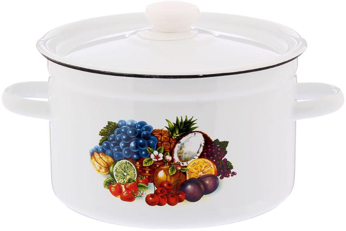 Кастрюля Epos Тропиканка, 4,5 л2293336Эмалированная кастрюля пригодится вам для быстрого приготовления разных типов блюд. Такая посуда подходит для домашнего и профессионального использования.Кастрюля цилиндрическая — помощь на кухне на долгие годы.Достоинства:посуда быстро и равномерно нагревается;корпус стоек к ржавчине;изделие легко отмывается в посудомоечной машине.Благодаря приятным цветам кастрюля удачно впишется в любой дизайн интерьера. Наилучшее качество покрытия достигается за счёт того, что посуда проходит обжиг при температуре до 800 градусов.Чтобы предмет сохранял наилучшие эксплуатационные свойства, соблюдайте правила ухода:избегайте ударов и падений;не пользуйтесь высокоабразивными чистящими средствами;не допускайте резких перепадов температуры.Посуда подходит для долговременного хранения пищи.