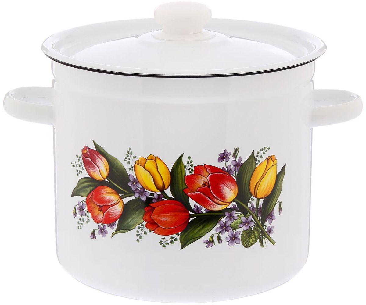 Кастрюля Epos Весенний букет, 7 л2293337Эмалированная кастрюля пригодится вам для быстрого приготовления разных типов блюд. Такая посуда подходит для домашнего и профессионального использования.Кастрюля цилиндрическая — помощь на кухне на долгие годы.Достоинства:посуда быстро и равномерно нагревается;корпус стоек к ржавчине;изделие легко отмывается в посудомоечной машине.Благодаря приятным цветам кастрюля удачно впишется в любой дизайн интерьера. Наилучшее качество покрытия достигается за счёт того, что посуда проходит обжиг при температуре до 800 градусов.Чтобы предмет сохранял наилучшие эксплуатационные свойства, соблюдайте правила ухода:избегайте ударов и падений;не пользуйтесь высокоабразивными чистящими средствами;не допускайте резких перепадов температуры.Посуда подходит для долговременного хранения пищи.