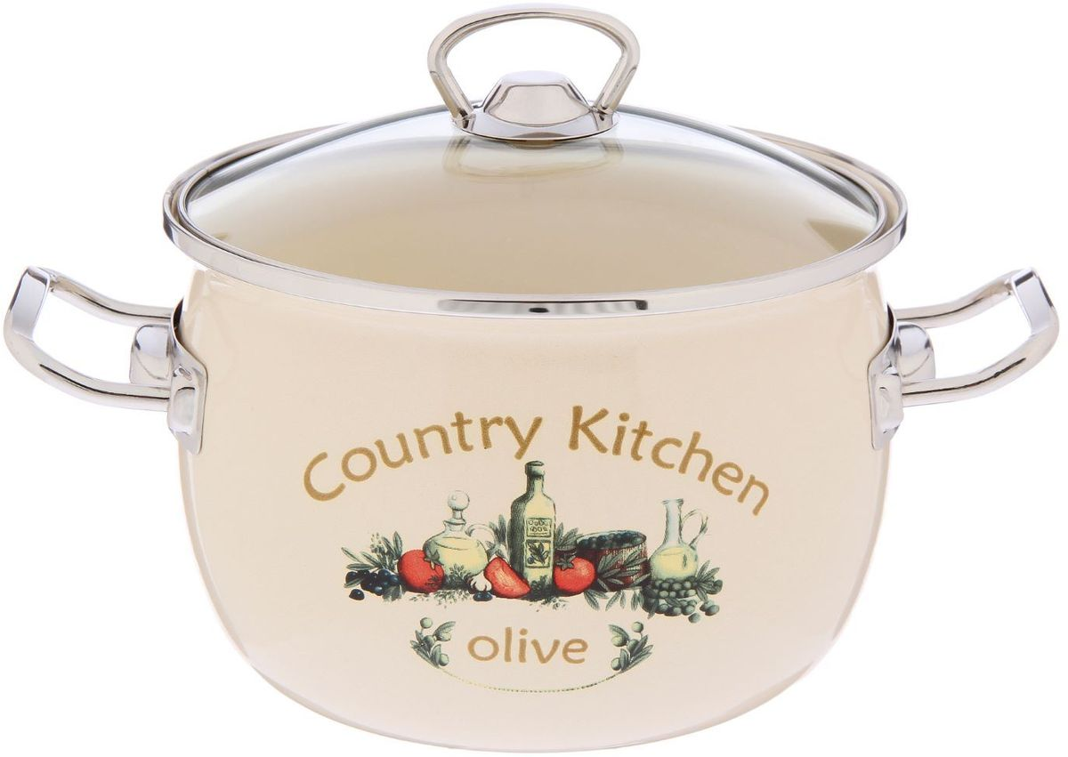 Кастрюля Epos Olive, 3,5 л2293364Эмалированная кастрюля пригодится вам для быстрого приготовления разных типов блюд. Такая посуда подходит для домашнего и профессионального использования.Достоинства:посуда быстро и равномерно нагревается;корпус стоек к ржавчине;изделие легко отмывается в посудомоечной машине.Благодаря приятным цветам кастрюля удачно впишется в любой дизайн интерьера. Наилучшее качество покрытия достигается за счёт того, что посуда проходит обжиг при температуре до 800 градусов.Чтобы предмет сохранял наилучшие эксплуатационные свойства, соблюдайте правила ухода:избегайте ударов и падений;не пользуйтесь высокоабразивными чистящими средствами;не допускайте резких перепадов температуры.Посуда подходит для долговременного хранения пищи.