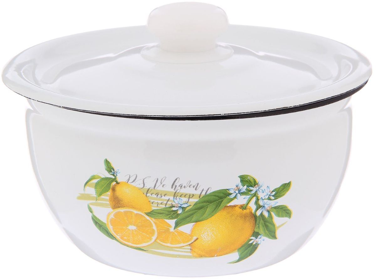 Салатник Epos Лимон, с крышкой, 1,5 лРАД00000830_зеленыйСалатник Epos Лимон, изготовленный из высококачественной стали сэмалированным покрытием, оформлен изображением лимона. Покрытие долговечно, оноустойчиво к механическому воздействию, не царапается и не сходит, а стальная основапрактически не подвержена механической деформации, благодаря чему срок эксплуатацииувеличивается. Салатник оснащен стальной крышкой с эмалированным покрытием. Крышкаимеет удобную пластиковую ручку.Салатник Epos подходит для красивой сервировки стола.