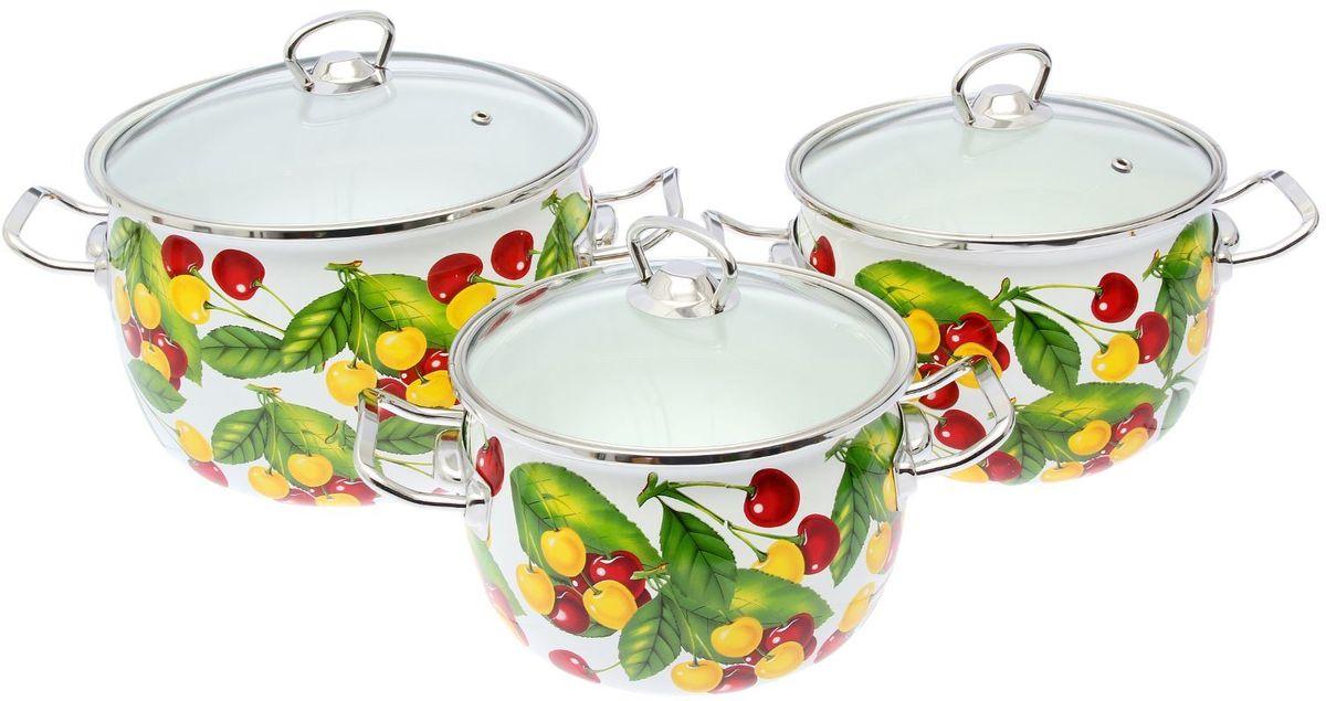 Набор кастрюль Epos Вкусняшка, с крышками, 6 предметов. 22934432293443Эмалированная посудая пригодится вам для быстрого приготовления разных типов блюд. Такая посуда подходит для домашнего и профессионального использования.Достоинства:посуда быстро и равномерно нагревается;корпус стоек к ржавчине;изделие легко отмывается в посудомоечной машине.Благодаря приятным цветам кастрюля удачно впишется в любой дизайн интерьера. Наилучшее качество покрытия достигается за счёт того, что посуда проходит обжиг при температуре до 800 градусов.Чтобы предмет сохранял наилучшие эксплуатационные свойства, соблюдайте правила ухода:избегайте ударов и падений;не пользуйтесь высокоабразивными чистящими средствами;не допускайте резких перепадов температуры.Посуда подходит для долговременного хранения пищи.