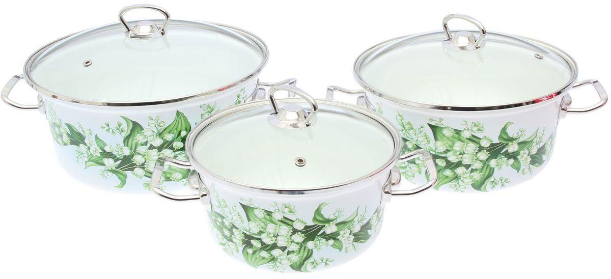 Набор кастрюль Epos Ландыш, с крышками, 6 предметов2293448Эмалированная посудая пригодится вам для быстрого приготовления разных типов блюд. Такая посуда подходит для домашнего и профессионального использования.Достоинства:посуда быстро и равномерно нагревается;корпус стоек к ржавчине;изделие легко отмывается в посудомоечной машине.Благодаря приятным цветам кастрюля удачно впишется в любой дизайн интерьера. Наилучшее качество покрытия достигается за счёт того, что посуда проходит обжиг при температуре до 800 градусов.Чтобы предмет сохранял наилучшие эксплуатационные свойства, соблюдайте правила ухода:избегайте ударов и падений;не пользуйтесь высокоабразивными чистящими средствами;не допускайте резких перепадов температуры.Посуда подходит для долговременного хранения пищи.