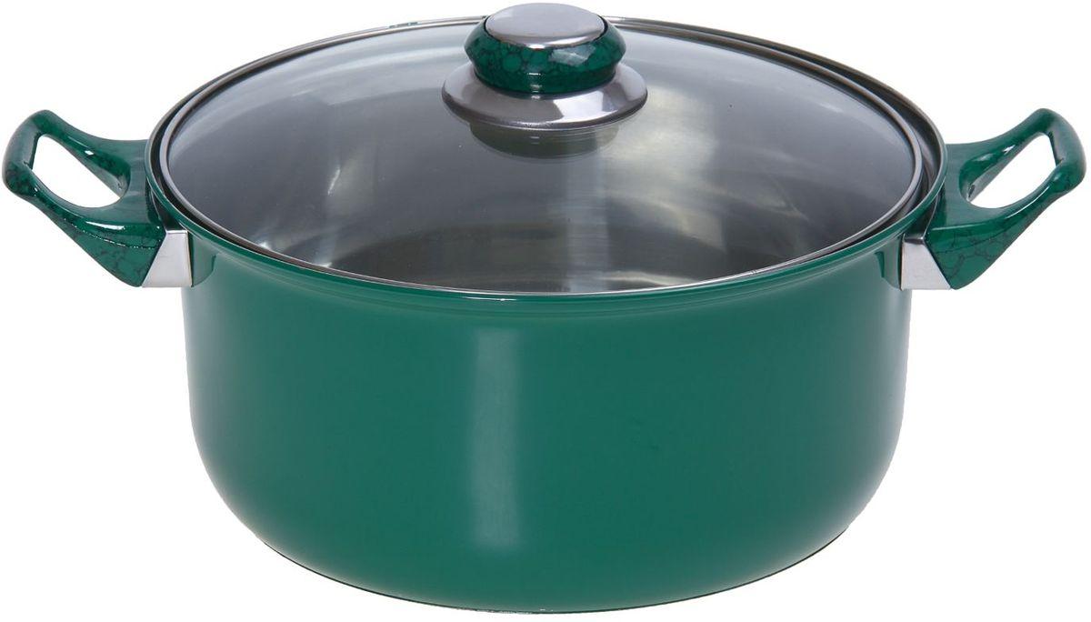 Кастрюля Доляна Элит, с крышкой, цвет: зеленый, 3,6 л851937За последние несколько лет посуда из нержавеющей стали приобрела наибольшую популярность среди покупателей. А знаете почему? Посуда из нержавейки отлично сохраняет тепло пищи продолжительное время, не влияет на вкус и цвет еды, так как не вступает во взаимодействие с кислотами, содержащимися в ней.Не убедили?Нержавеющая сталь является самой гигиеничной поверхностью, которая не имеет пор и трещин, где могут скапливаться бактерии.Легко очищается от любых загрязнений.Надёжные ручки помогут удержать даже полную кастрюлю.Зеркальная полировка придаёт посуде благородный облик и не требует специального ухода.Посуда из стали не ржавеет и почти не стареет.Кастрюля имеет качественное трёхслойное капсулированное дно толщиной 1,1 мм (0,3 мм сталь/ 0,5 мм алюминий/ 0,3 мм сталь) и высокие стенки (толщина 0,3 мм). Они обеспечивают оптимальное распределение тепла по всей поверхности кастрюли, что препятствует пригоранию еды в процессе готовки. Используйте минимум масла и жира, сохраняйте максимальное количество полезных веществ и натуральный вкус продуктов.А что ещё?Удивит необычной расцветкой, которая притягивает взгляд, поднимает настроение и вызывает желание прикоснуться к прекрасному. Яркий внешний вид сделает кастрюлю желанным подарком на любой праздник.Отдельно стоит отметить существенную экономию электроэнергии или газа: плиту можно выключить раньше, чем пища будет готова. Благодаря накопленному теплу ваше блюдо дойдёт самостоятельно, без дополнительного нагревания.Нержавейка — материал 21 века. Не упустите возможность купить качественную посуду по привлекательной цене!