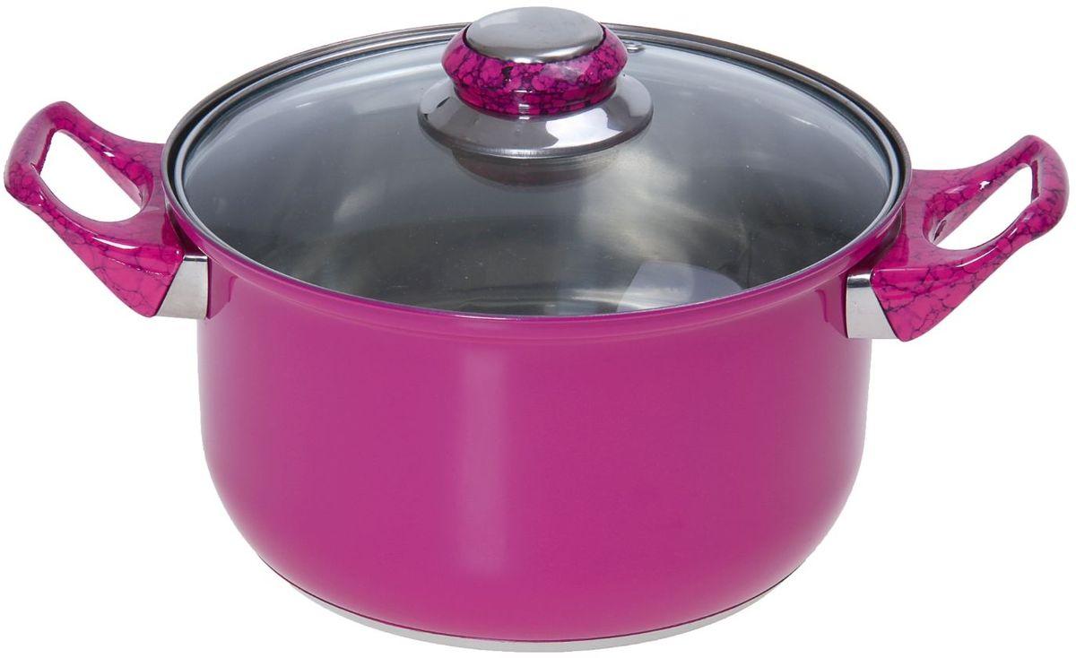 Кастрюля Доляна Элит, с крышкой, цвет: розовый, 2,9 л851948За последние несколько лет посуда из нержавеющей стали приобрела наибольшую популярность среди покупателей. А знаете почему? Посуда из нержавейки отлично сохраняет тепло пищи продолжительное время, не влияет на вкус и цвет еды, так как не вступает во взаимодействие с кислотами, содержащимися в ней.Не убедили?Нержавеющая сталь является самой гигиеничной поверхностью, которая не имеет пор и трещин, где могут скапливаться бактерии.Легко очищается от любых загрязнений.Надёжные ручки помогут удержать даже полную кастрюлю.Зеркальная полировка придаёт посуде благородный облик и не требует специального ухода.Посуда из стали не ржавеет и почти не стареет.Кастрюля имеет качественное трёхслойное капсулированное дно толщиной 1,1 мм (0,3 мм сталь/ 0,5 мм алюминий/ 0,3 мм сталь) и высокие стенки (толщина 0,3 мм). Они обеспечивают оптимальное распределение тепла по всей поверхности кастрюли, что препятствует пригоранию еды в процессе готовки. Используйте минимум масла и жира, сохраняйте максимальное количество полезных веществ и натуральный вкус продуктов.А что ещё?Удивит необычной расцветкой, которая притягивает взгляд, поднимает настроение и вызывает желание прикоснуться к прекрасному. Яркий внешний вид сделает кастрюлю желанным подарком на любой праздник.Отдельно стоит отметить существенную экономию электроэнергии или газа: плиту можно выключить раньше, чем пища будет готова. Благодаря накопленному теплу ваше блюдо дойдёт самостоятельно, без дополнительного нагревания.Нержавейка — материал 21 века. Не упустите возможность купить качественную посуду по привлекательной цене!