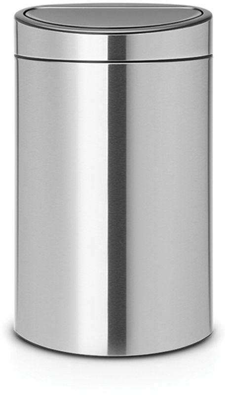 Бак мусорный Brabantia Touch Bin New, двухсекционный, цвет: стальной матовый, 10/23 л. 100680 brabantia мусорный бак touch bin new 40 л 72 7х43 5х30 см cерый металлик