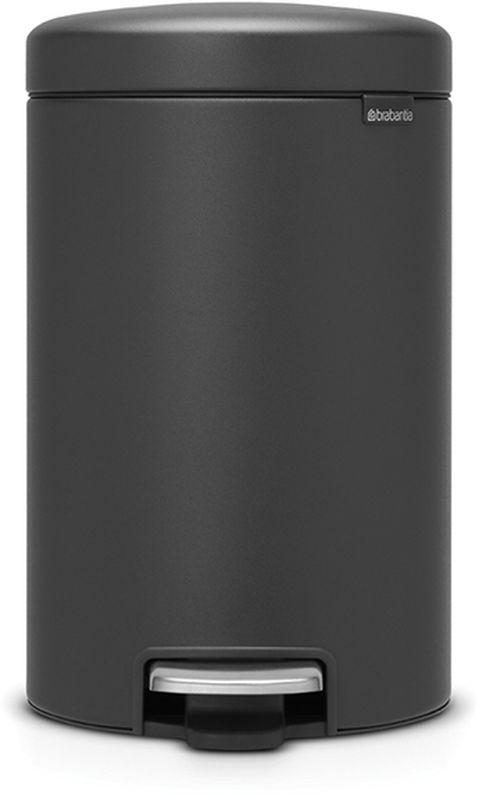 Бак мусорный Brabantia NewIcon, с педалью, цвет: графитовый, с напылением, 12 л.113802113802Коллекция Sense of Luxury.Превосходный дизайн - сверкающие минералы.Металлическая педаль подчеркивает индивидуальность стиля.Плавное закрывание и необыкновенно мягкий ход педали.Не пропускающая запах крышка.Надежный долговечный педальный механизм - комфортное использование в течение долгих лет.Противоскользящее основание - отличная устойчивость и защита пола.Легко перемещать - удобная ручка в блоке крепления крышки.Всегда опрятный вид - в комплекте идеально подходящие по размеру мешки для мусора PerfectFit (размер C).Сертификат соответствия концепции регенерации Cradle to Cradle.