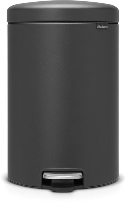 Бак мусорный Brabantia NewIcon, с педалью, цвет: графитовый, с напылением, 20 л. 114182114182Коллекция Sense of Luxury.Превосходный дизайн - сверкающие минералы.Металлическая педаль подчеркивает индивидуальность стиля.Плавное закрывание и необыкновенно мягкий ход педали.Не пропускающая запах крышка.Надежный долговечный педальный механизм - комфортное использование в течение долгих лет.Противоскользящее основание - отличная устойчивость и защита пола.Легко перемещать - удобная ручка в блоке крепления крышки.Всегда опрятный вид - в комплекте идеально подходящие по размеру мешки для мусора PerfectFit (размер D).Сертификат соответствия концепции регенерации Cradle to Cradle.