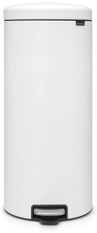 Бак мусорный Brabantia NewIcon, с педалью, цвет: белый, 30 л114588• Коллекция Sense of Luxury.• Плавное закрывание и необыкновенно мягкий ход педали.• Не пропускающая запах крышка.• Надежный долговечный педальный механизм – комфортное использование в течение долгих лет. • Противоскользящее основание – отличная устойчивость и защита пола. • Легко перемещать – удобная ручка в блоке крепления крышки.• Одна бесплатная упаковка мешков для мусора Brabantia PerfectFit (размер С) – удобная замена и всегда опрятный вид.• 10 лет гарантийного обслуживания.• Превосходный дизайн – сверкающие минералы. • Металлическая педаль подчеркивает индивидуальность стиля. • Сертификат Cradle to cradle.