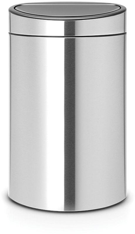 Бак мусорный Brabantia Touch Bin New, цвет: стальной матовый FPP, 40 л. 114809114809Удобство и простота в использовании – система открывания и закрывания «Soft-Touch». Экономия места – изделие имеет плоскую заднюю стенку и удобно устанавливается вплотную к стене. Съемный блок крышки из нержавеющей стали – удобная замена мешков для мусора. Специальные вентиляционные отверстия во внутреннем ведре предотвращают образование воздуха при вынимании полного мусорного мешка. Изготовлен из долговечных устойчивых к коррозии материалов. Прочная ручка для переноски. Защитный пластиковый обод на дне защищает пол. Имеются идеально подходящие по размеру мешки для мусора PerfectFit (размер L) – всегда опрятный вид.