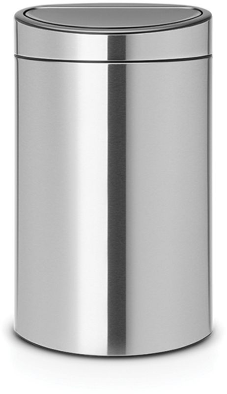Бак мусорный Brabantia Touch Bin New, цвет: стальной матовый, 40 л. 114823114823Удобство и простота в использовании – система открывания и закрывания «Soft- Touch».Экономия места – изделие имеет плоскую заднюю стенку и удобноустанавливается вплотную к стене.Съемный блок крышки из нержавеющей стали – удобная замена мешков длямусора.Специальные вентиляционные отверстия во внутреннем ведре предотвращаютобразование воздуха при вынимании полного мусорного мешка.Изготовлен из долговечных устойчивых к коррозии материалов.Прочная ручка для переноски.Защитный пластиковый обод на дне защищает пол.Имеются идеально подходящие по размеру мешки для мусора PerfectFit (размерL) – всегда опрятный вид.