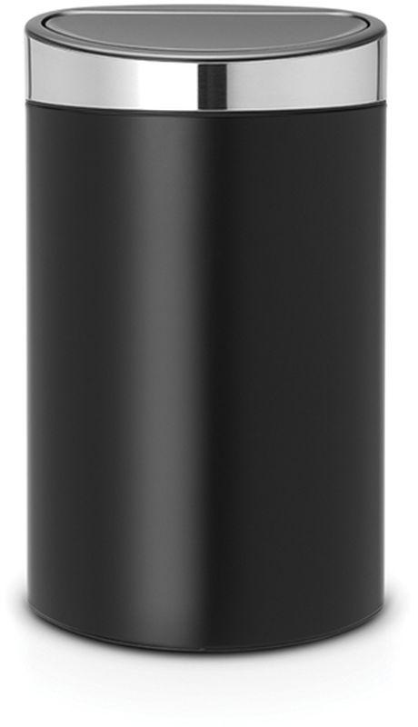 Бак мусорный Brabantia Touch Bin New, цвет: черный, матовый стальной, 40 л. 114847114847Удобство и простота в использовании – система открывания и закрывания «Soft-Touch». Экономия места – изделие имеет плоскую заднюю стенку и удобно устанавливается вплотную к стене. Съемный блок крышки из нержавеющей стали – удобная замена мешков для мусора. Специальные вентиляционные отверстия во внутреннем ведре предотвращают образование воздуха при вынимании полного мусорного мешка. Изготовлен из долговечных устойчивых к коррозии материалов. Прочная ручка для переноски. Защитный пластиковый обод на дне защищает пол. Имеются идеально подходящие по размеру мешки для мусора PerfectFit (размер L) – всегда опрятный вид.