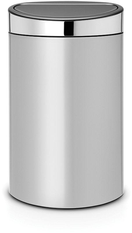 Бак мусорный Brabantia Touch Bin New, цвет: серый металлик, 40 л. 114861114861Удобство и простота в использовании – система открывания и закрывания «Soft-Touch». Экономия места – изделие имеет плоскую заднюю стенку и удобно устанавливается вплотную к стене. Съемный блок крышки из нержавеющей стали – удобная замена мешков для мусора. Специальные вентиляционные отверстия во внутреннем ведре предотвращают образование воздуха при вынимании полного мусорного мешка. Изготовлен из долговечных устойчивых к коррозии материалов. Прочная ручка для переноски. Защитный пластиковый обод на дне защищает пол. Имеются идеально подходящие по размеру мешки для мусора PerfectFit (размер L) – всегда опрятный вид.