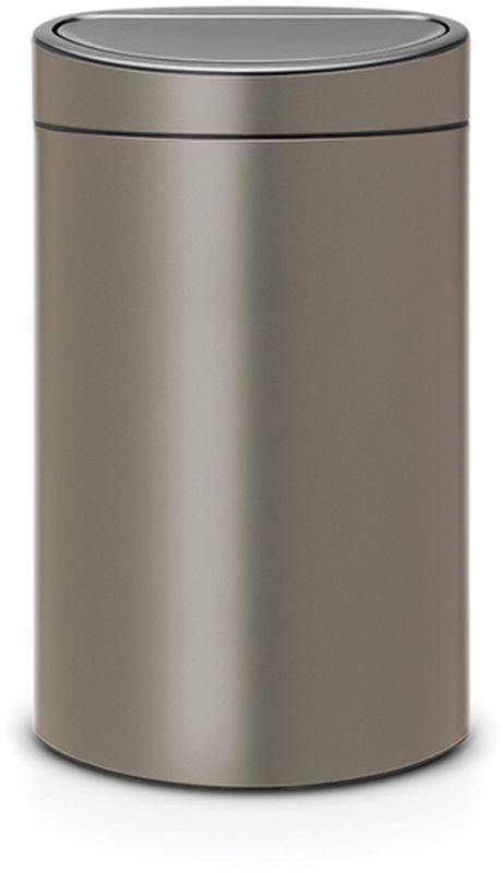 Бак мусорный Brabantia Touch Bin New, цвет: платиновый, 40 л. 114908466568Компактный бак на 40 литров Brabantia Touch Bin New незаменим на любой кухне. Механизм открывания Soft- Touch обеспечивает исключительное удобство при использовании. А благодаря наличию съемного внутреннегопластикового ведра изделие удобно в очистке. Удобство и простота в использовании - система открывания и закрывания Soft-Touch.Экономия места - изделие имеет плоскую заднюю стенку и удобно устанавливается вплотную к стене.Съемный блок крышки из нержавеющей стали - удобная замена мешков для мусора.Специальные вентиляционные отверстия во внутреннем ведре предотвращают образование воздуха привынимании полного мусорного мешка.Изготовлен из долговечных устойчивых к коррозии материалов.Прочная ручка для переноски.Защитный пластиковый обод на дне защищает пол.Имеются идеально подходящие по размеру мешки для мусора Brabantia со стягивающей лентой (размер L) -всегда опрятный вид. Размеры: 72,7 х 43,5 х 30,2 см.