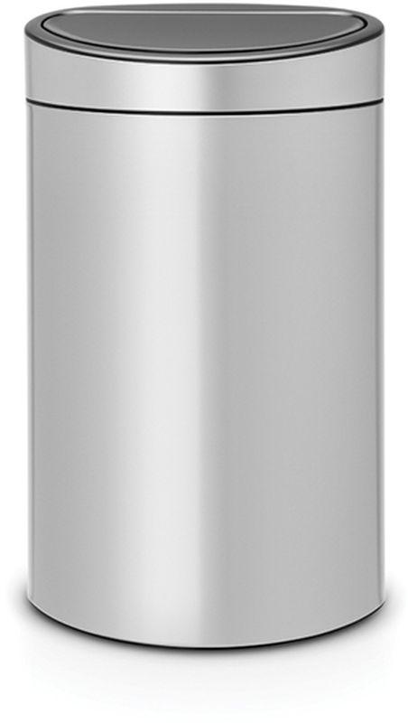 Бак мусорный Brabantia Touch Bin New, цвет: серый металлик, 40 л. 114922114922Новаторское решение для тех, кто заботится о сохранении окружающей среды. Удобство и простота в использовании – система открывания и закрывания «Soft-Touch». Два внутренних пластиковых ведра: для обычных отходов (23 литра) и для компостируемых отходов (10 литров).Компактный, не занимающий много места бак – идеальное решение для раздельного сбора домашних отходов.Съемный блок крышки из нержавеющей стали – удобная замена мешков для мусора и удобная очистка. Покрытие с защитой от отпечатков пальцев (FPP).Специальные вентиляционные отверстия в 23-литровом внутреннем ведре предотвращающие образование вакуума при вынимании полного мусорного мешка.Прочная ручка – удобно переносить (даже заполненный мусором бак). Защитный пластиковый обод защищает пол. Имеются идеально подходящие по размеру мешки PerfectFit – размер G и размер К (полностью биоразлагаемые) – всегда опрятный вид.