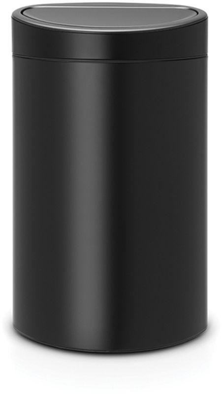 Бак мусорный Brabantia Touch Bin New, цвет: черный, 40 л. 114946114946Удобство и простота в использовании – система открывания и закрывания «Soft-Touch». Экономия места – изделие имеет плоскую заднюю стенку и удобно устанавливается вплотную к стене.Съемный блок крышки из нержавеющей стали – удобная замена мешков для мусора.Специальные вентиляционные отверстия во внутреннем ведре предотвращают образование воздуха при вынимании полного мусорного мешка.Изготовлен из долговечных устойчивых к коррозии материалов.Прочная ручка для переноски.Защитный пластиковый обод на дне защищает пол.Имеются идеально подходящие по размеру мешки для мусора PerfectFit (размер L) – всегда опрятный вид.