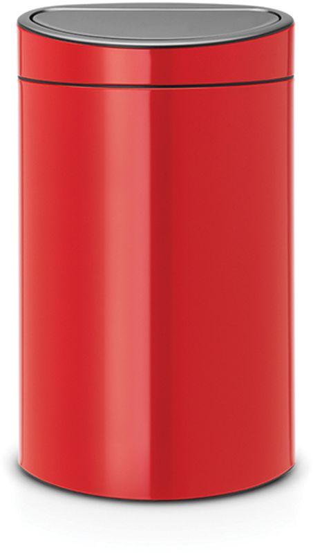 Бак мусорный Brabantia Touch Bin New, цвет: пламенно-красный, 40 л. 114960114960Новаторское решение для тех, кто заботится о сохранении окружающей среды. Удобство и простота в использовании – система открывания и закрывания «Soft-Touch». Два внутренних пластиковых ведра: для обычных отходов (23 литра) и для компостируемых отходов (10 литров).Компактный, не занимающий много места бак – идеальное решение для раздельного сбора домашних отходов.Съемный блок крышки из нержавеющей стали – удобная замена мешков для мусора и удобная очистка. Специальные вентиляционные отверстия в 23-литровом внутреннем ведре предотвращающие образование вакуума при вынимании полного мусорного мешка.Прочная ручка – удобно переносить (даже заполненный мусором бак). Защитный пластиковый обод защищает пол. Имеются идеально подходящие по размеру мешки PerfectFit – размер G и размер К (полностью биоразлагаемые) – всегда опрятный вид.