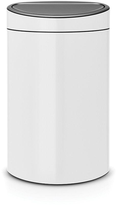 Бак мусорный Brabantia Touch Bin New, цвет: белый, 40 л. 114984114984• Удобство и простота в использовании – система открывания и закрывания Soft-Touch. • Экономия места – изделие имеет плоскую заднюю стенку и удобно устанавливается вплотную к стене. • Съемный блок крышки из нержавеющей стали – удобная замена мешков для мусора. • Специальные вентиляционные отверстия во внутреннем ведре предотвращают образование воздуха при вынимании полного мусорного мешка. • Изготовлен из долговечных устойчивых к коррозии материалов. • Прочная ручка для переноски. • Защитный пластиковый обод на дне защищает пол. • Имеются идеально подходящие по размеру мешки для мусора Brabantia со стягивающей лентой (размер L) – всегда опрятный вид.