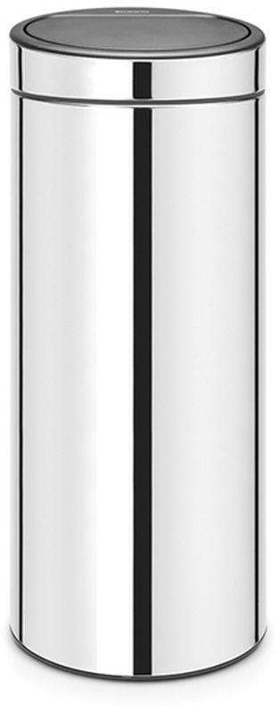 Бак мусорный Brabantia Touch Bin, цвет: стальной полированный, 30 л. 115325 brabantia мусорный бак touch bin 30 л