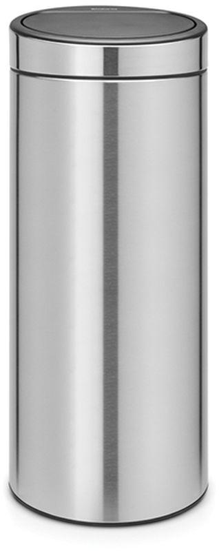 Бак мусорный Brabantia Touch Bin New, цвет: стальной матовый FPP, 30 л. 115462115462Удобство и простота в использовании – фирменный механизм открывания и закрывания «Soft-Touch». Уникальная конструкция блока крепления крышки – крышка открывается бесшумно. Удобная замена мешков для мусора – съемный блок крышки из нержавеющей стали.Удобная очистка– съемное внутреннее пластиковое ведро.Специальные вентиляционные отверстия во внутреннем ведре предотвращающие образование вакуума при вынимании полного мусорного мешка.Прочная ручка для переноски – удобно переносить даже заполненный мусором бак. Защитный пластиковый обод защищает пол. Изготовлен из устойчивых к коррозии материалов – длительный срок службы и удобная очистка. Покрытие с защитой от отпечатков пальцев (FPP).Всегда опрятный вид – в комплекте идеально подходящие по размеру мешки для мусора PerfectFit (размер G).