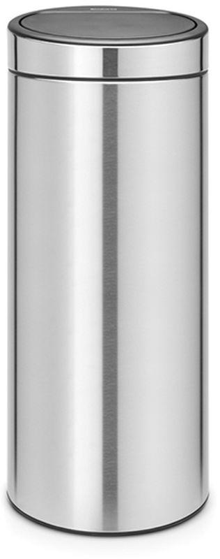Бак мусорный Brabantia Touch Bin New, цвет: стальной матовый, 30 л. 115349 brabantia мусорный бак touch bin 30 л