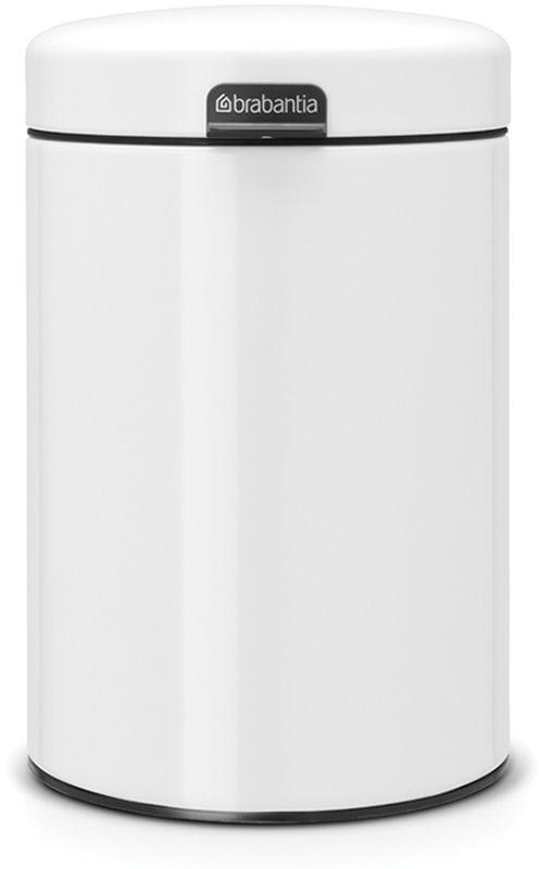 Бак мусорный Brabantia NewIcon, настенный, цвет: белый, 3 л115523• Механизм плавного открывания. • Удобная очистка – съемное внутреннее пластиковое ведро. • Не пропускающая запах бесшумная крышка. • Бак легко снимается с настенного кронштейна для тщательной очистки. • Изготовлен из устойчивых к коррозии материалов. • Имеются идеально подходящие по размеру мешки для мусора Brabantia со стягивающей лентой (размер A) – всегда опрятный вид.