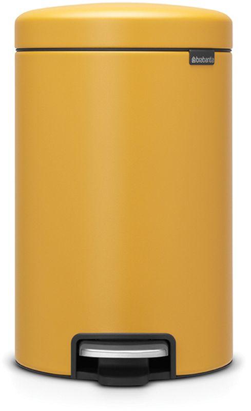 Бак мусорный Brabantia NewIcon, с педалью, цвет: горчично-желтый, с напылением, 12 л. 115868115868Коллекция Sense of Luxury. Превосходный дизайн - сверкающие минералы. Металлическая педаль подчеркивает индивидуальность стиля. Плавное закрывание и необыкновенно мягкий ход педали. Не пропускающая запах крышка. Надежный долговечный педальный механизм - комфортное использование в течение долгих лет. Противоскользящее основание - отличная устойчивость и защита пола. Легко перемещать - удобная ручка в блоке крепления крышки. Всегда опрятный вид - в комплекте идеально подходящие по размеру мешки для мусора PerfectFit (размер C). Сертификат соответствия концепции регенерации Cradle to Cradle.