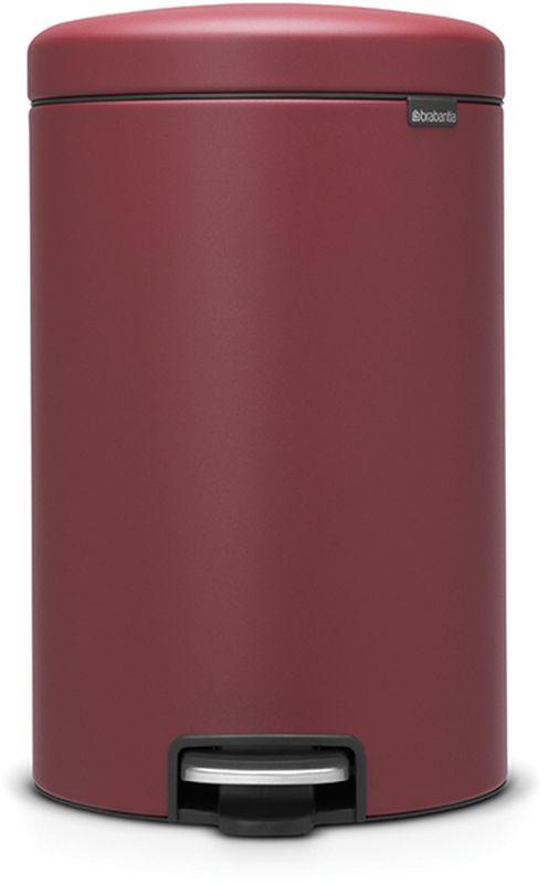 Бак мусорный Brabantia NewIcon, с педалью, цвет: бордо, с напылением, 20 л. 115905115905Коллекция Sense of Luxury. Превосходный дизайн - сверкающие минералы. Металлическая педаль подчеркивает индивидуальность стиля. Плавное закрывание и необыкновенно мягкий ход педали. Не пропускающая запах крышка. Надежный долговечный педальный механизм - комфортное использование в течение долгих лет. Противоскользящее основание - отличная устойчивость и защита пола. Легко перемещать - удобная ручка в блоке крепления крышки. Всегда опрятный вид - в комплекте идеально подходящие по размеру мешки для мусора PerfectFit (размер D). Сертификат соответствия концепции регенерации Cradle to Cradle.