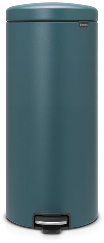 Бак мусорный Brabantia NewIcon, с педалью, цвет: лазурно-серый, с напылением, 30 л. 116025116025Коллекция Sense of Luxury.Превосходный дизайн - сверкающие минералы.Металлическая педаль подчеркивает индивидуальность стиля.Плавное закрывание и необыкновенно мягкий ход педали.Не пропускающая запах крышка.Надежный долговечный педальный механизм - комфортное использование в течение долгих лет.Противоскользящее основание - отличная устойчивость и защита пола.Легко перемещать - удобная ручка в блоке крепления крышки.Всегда опрятный вид - в комплекте идеально подходящие по размеру мешки для мусора PerfectFit (размер G).Сертификат соответствия концепции регенерации Cradle to Cradle.