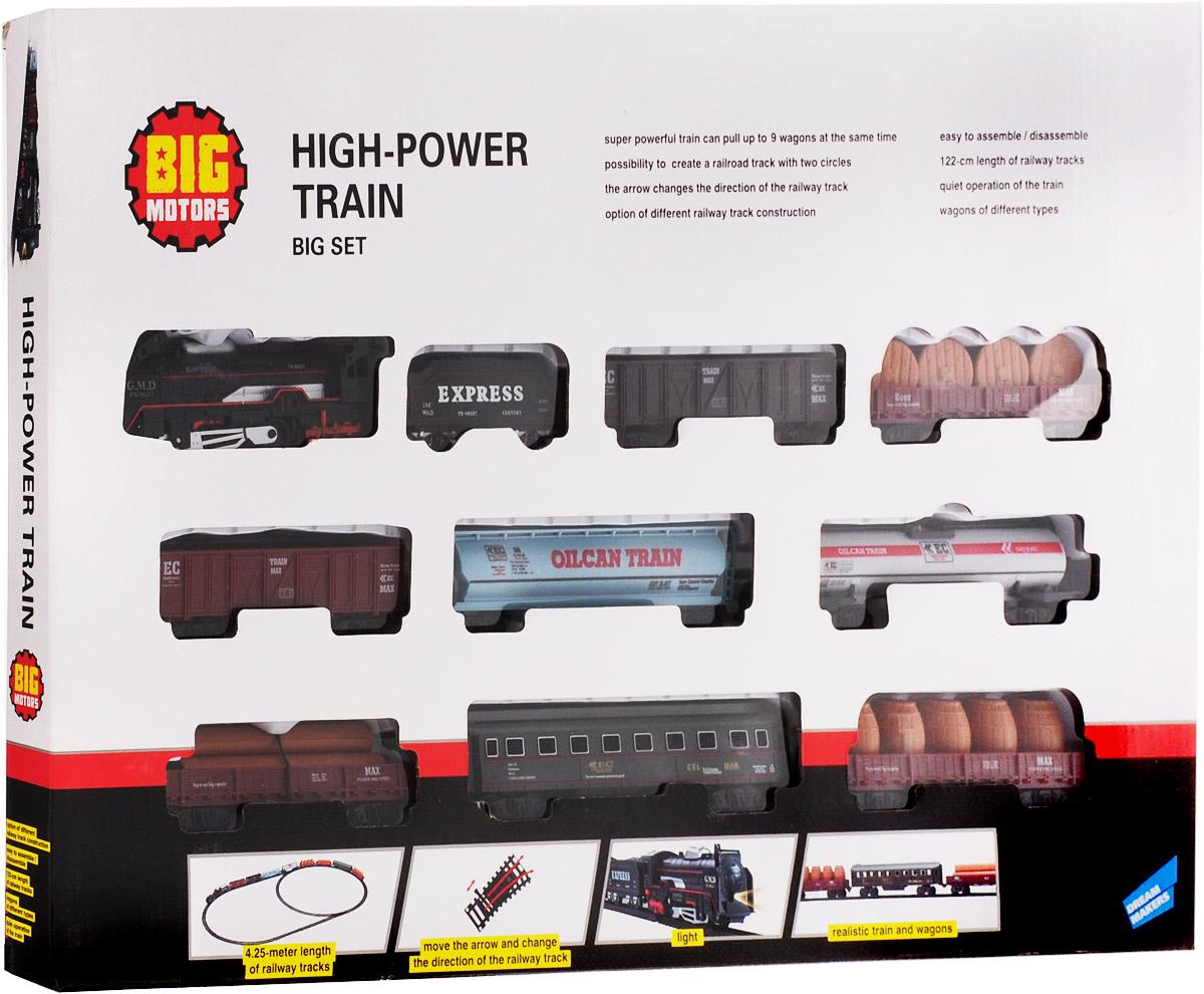 Big Motors Железная дорога Локомотив с 9 вагонами