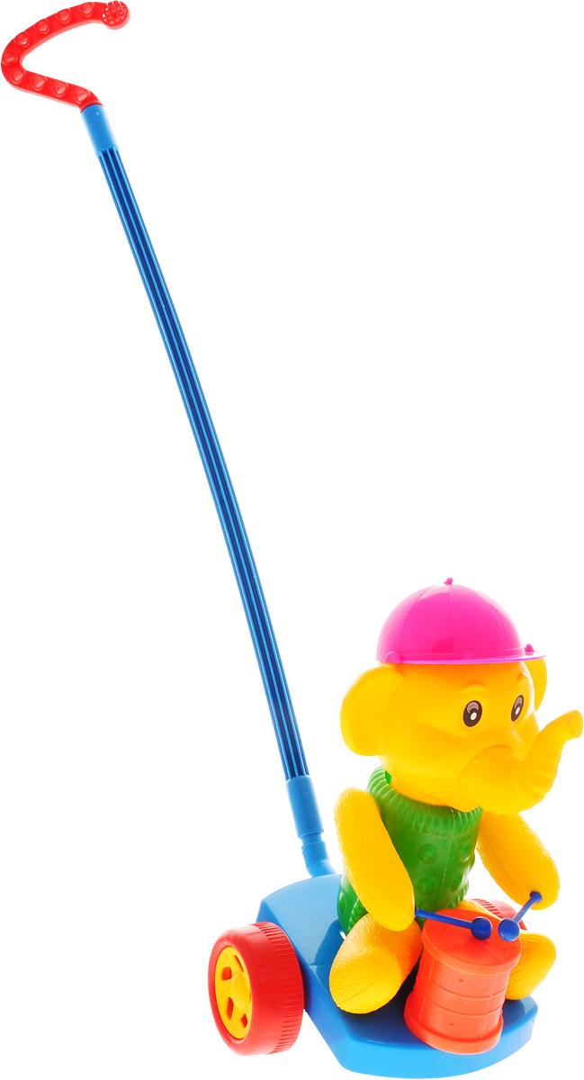 Wieslaw Suchanek Игрушка-каталка Слоник с барабаном цвет синий зеленый желтый каталка утенок с ластами max suchanek