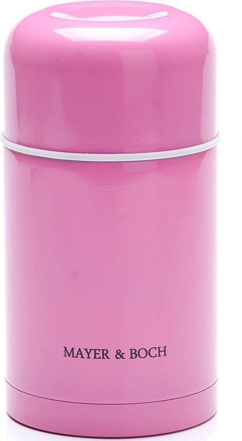 Термос Mayer&Boch, цвет: розовый, 800 мл26635Универсальный термос Mayer&Boch выполнен из качественной нержавеющей стали 18/10, которая не вступает в реакцию с содержимым термоса и не изменяет вкусовых качеств напитка. Двойная стенка из нержавеющей стали сохраняет температуру на более длительный срок. Вакуумный закручивающийся клапан предохраняет от проливаний. Крышку можно использовать как чашку. Уникальные свойства данного термоса получили высокую оценку потребителей. Данная модель термоса прочная, долговечная и небьющаяся. Прочный и надежный термос станет незаменимым помощником для рыболовов, охотников, а так же его оценят путешественники и туристы. Легко и просто моется.Объем термоса: 800 мл.Диаметр термоса: 10,5 см.Высота: 22,5 см.