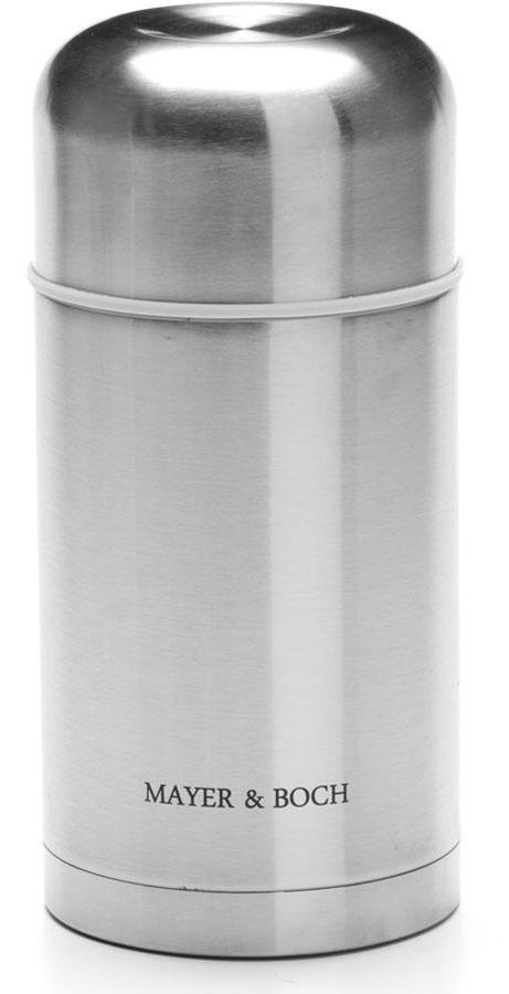 Термос Mayer&Boch, цвет: серебристый, 800 мл26636Универсальный термос Mayer&Boch выполнен из качественной нержавеющей стали 18/10, которая не вступает в реакцию с содержимым термоса и не изменяет вкусовых качеств напитка. Двойная стенка из нержавеющей стали сохраняет температуру на более длительный срок. Вакуумный закручивающийся клапан предохраняет от проливаний. Крышку можно использовать как чашку. Уникальные свойства данного термоса получили высокую оценку потребителей. Данная модель термоса прочная, долговечная и небьющаяся. Прочный и надежный термос станет незаменимым помощником для рыболовов, охотников, а так же его оценят путешественники и туристы. Легко и просто моется.Объем термоса: 800 мл.Диаметр термоса: 10,5 см.Высота: 22,5 см.