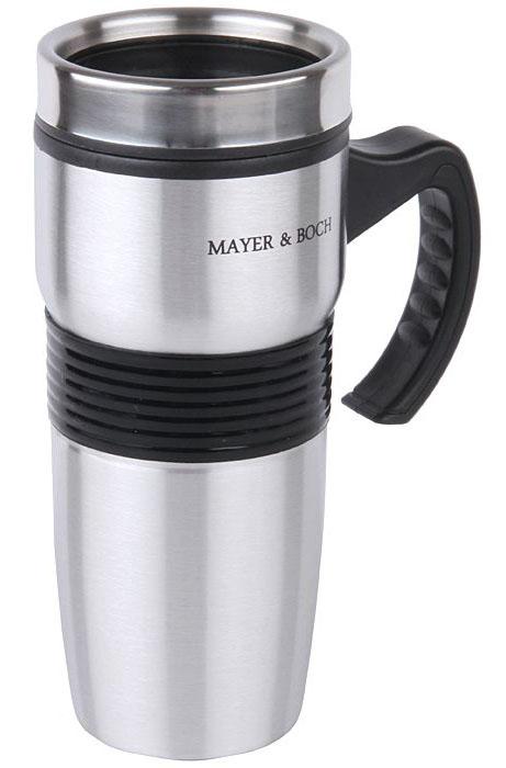 Термокружка Mayer&Boch, 450 мл. 2663726637Термокружка «MAYER & BOCH» изготовлена из нержавеющей стали, не содержащей токсичных веществ. Двойные стенки дольше сохраняют напиток горячим и не обжигают руки. Надежная крышка с защитой от проливания обеспечит дополнительную безопасность. Крышка оснащена клапаном для питья. Оптимальный объем позволит взять с собой большую порцию горячего кофе или чая. Идеально подходит для холодных напитков. Такая кружка может быть использована во время отдыха, на работе, в путешествии, во время поездок в автомобиле.