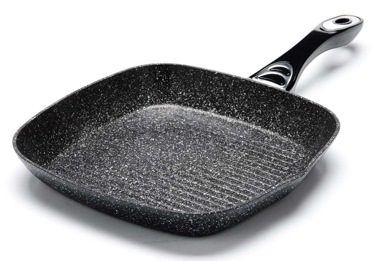 Сковорода-гриль Mayer&Boch. Диаметр 24 см. 2675026750Рифленая поверхность сковороды MAYER&BOCH имитирует решетки гриля и образует аппетитную корочку, при этом жир стекает в желобки, не давая продуктам контактировать с ним, что обеспечивает приготовление здоровой пищи. Сковорода-гриль также подходит для жарки мяса, рыбы, сыра, овощей и для приготовления и разогрева сэндвичей. Сохраняет все соки на рифленом дне. Равномерное распределение тепла. Носик на обеих сторонах гриля. Подходит для использования на всех типах плит.